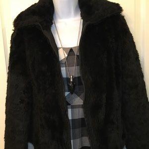 B.B. Dakota faux fur jacket /reversible!
